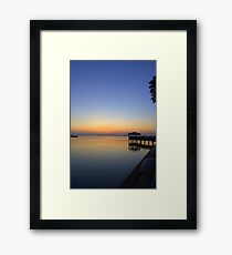 Pre-Sunrise on Space Coast, FL (w) Framed Print