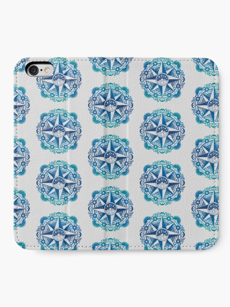 Alternate view of Journey to Moon Mountain | Turquoise Navy Ombré iPhone Wallet