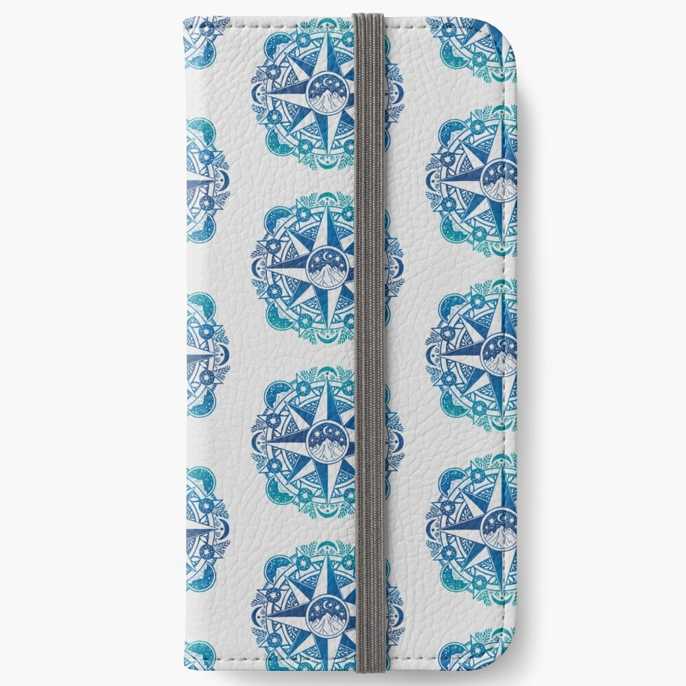 Journey to Moon Mountain | Turquoise Navy Ombré iPhone Wallet