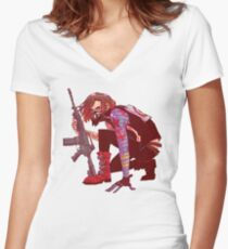 Punk!Winter Soldier Women's Fitted V-Neck T-Shirt