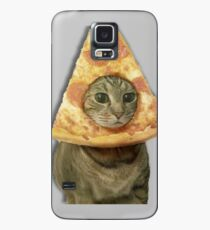 Cat with Pizza Head Case/Skin for Samsung Galaxy
