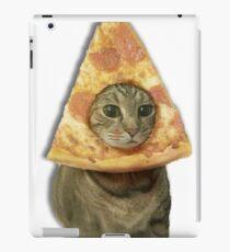 Cat with Pizza Head iPad Case/Skin