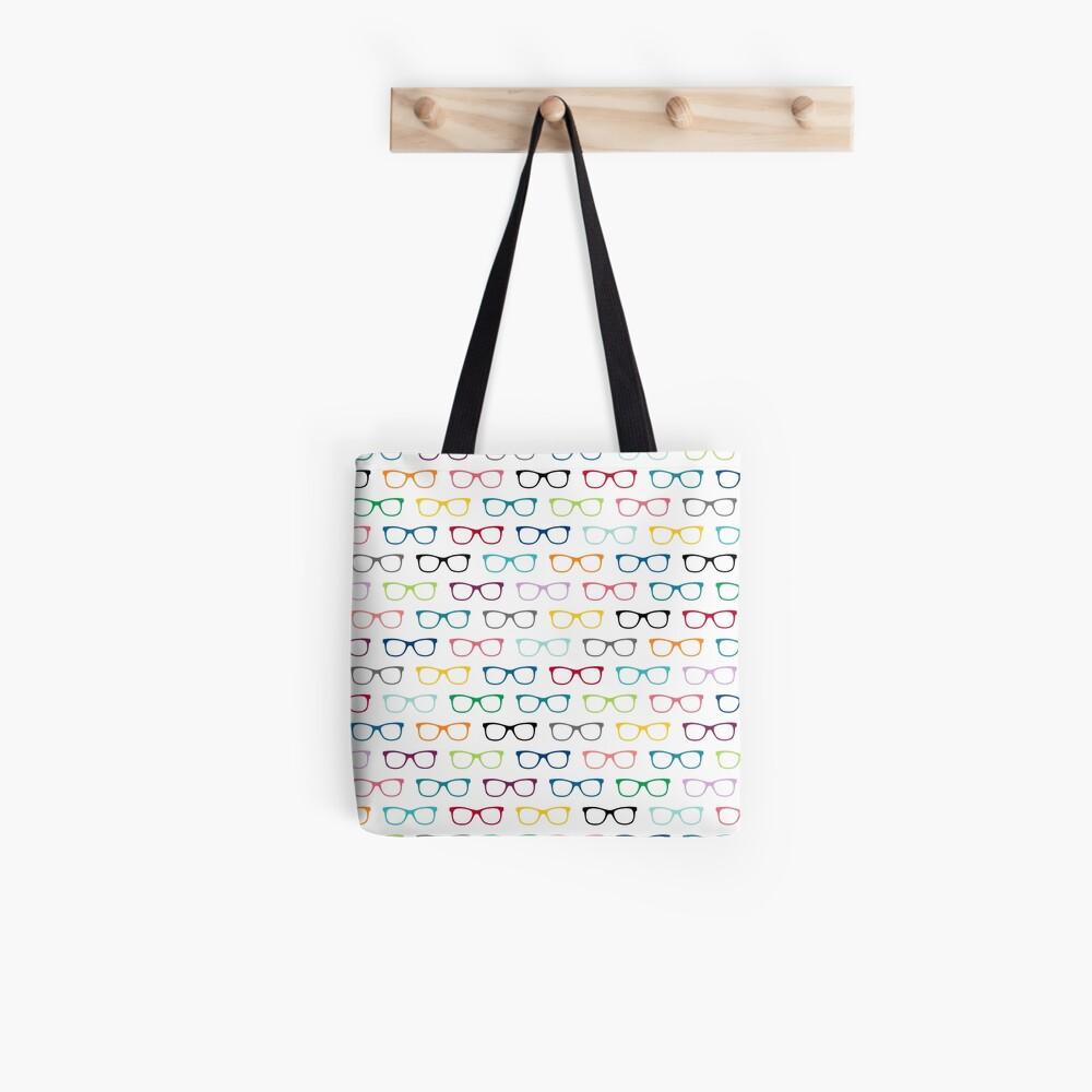 Hipster Glasses Geek Pattern Tote Bag