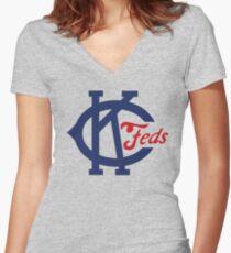 Kansas City Packers Women's Fitted V-Neck T-Shirt