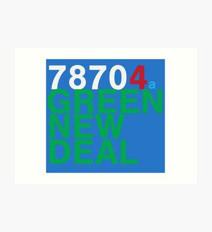 Austin 78704 for a Green New Deal Art Print