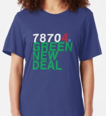 Austin 78704 for a Green New Deal Slim Fit T-Shirt