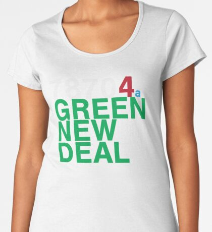 Austin 78704 for a Green New Deal Premium Scoop T-Shirt