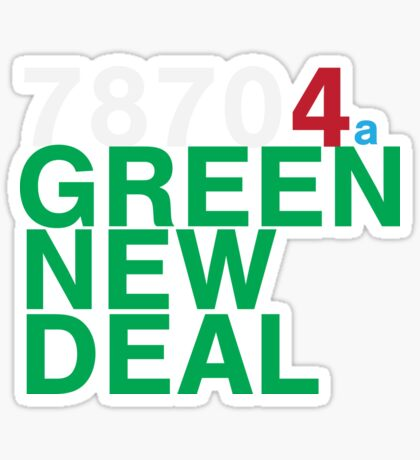 Austin 78704 for a Green New Deal Sticker