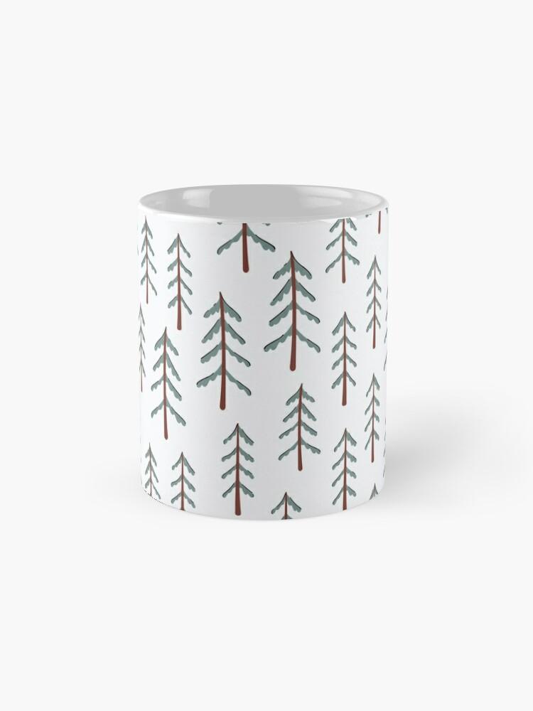 Alternate view of Fir tree doodle wood  Mug