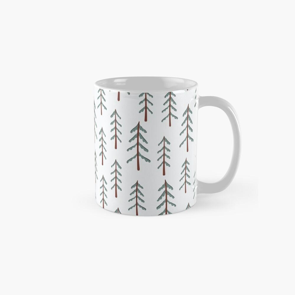 Fir tree doodle wood  Mug