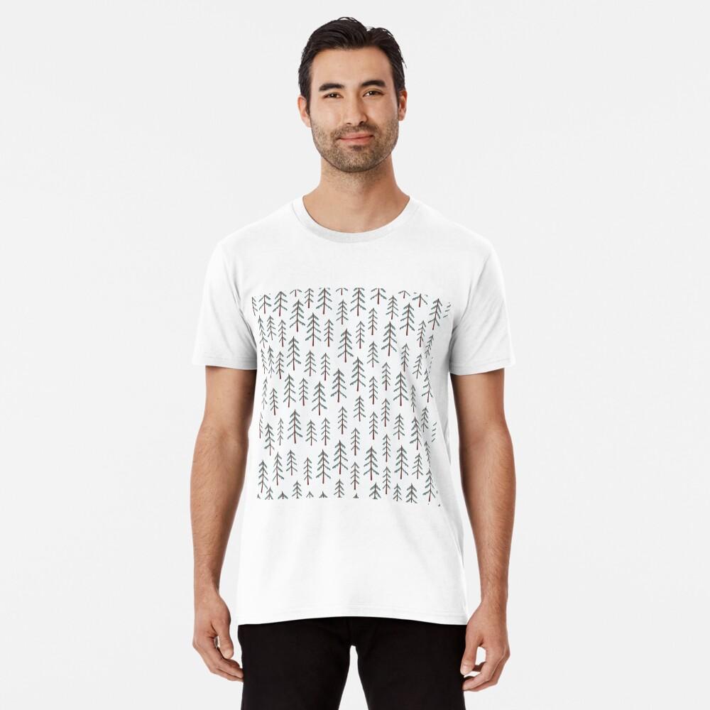 Fir tree doodle wood  Premium T-Shirt