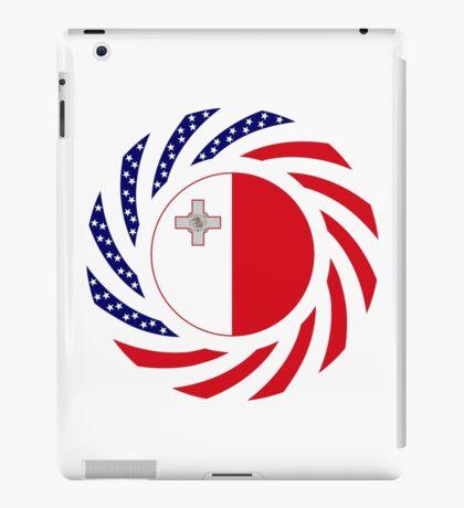 Maltese American Multinational Patriot Flag Series iPad Case/Skin