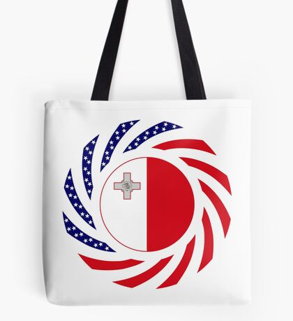 Maltese American Multinational Patriot Flag Series Tote Bag