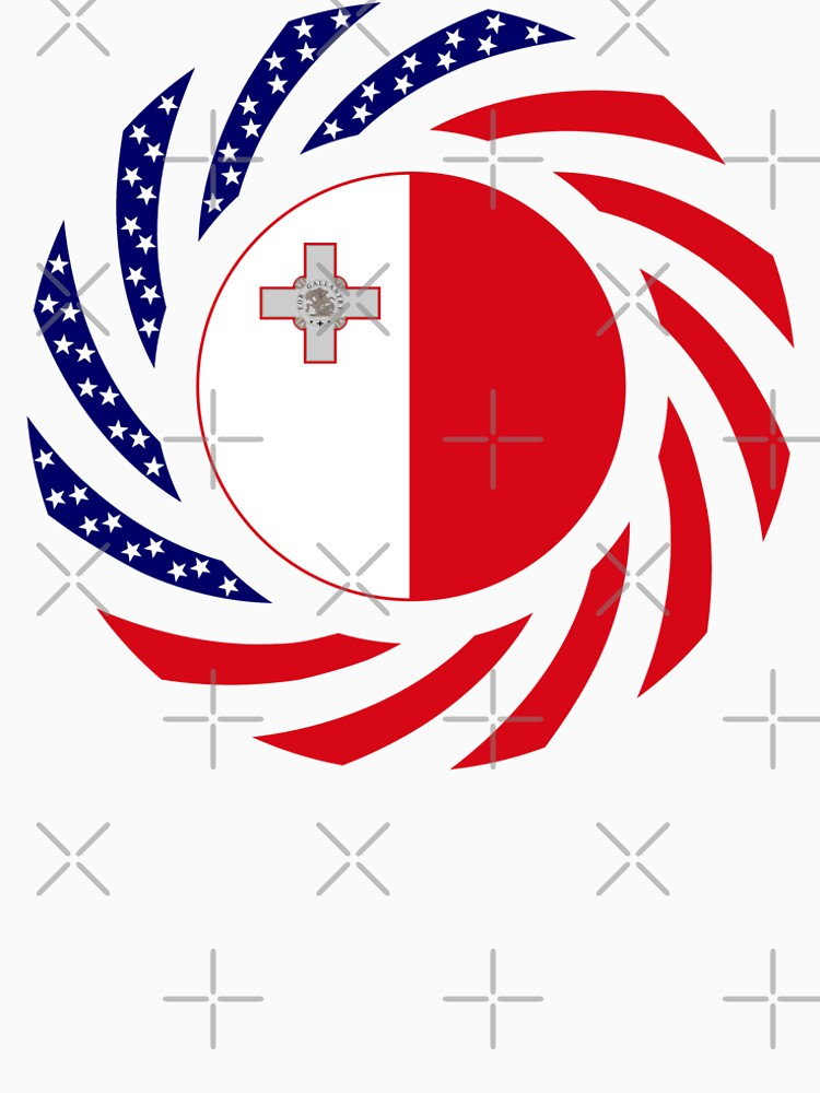 Maltese American Multinational Patriot Flag Series by carbonfibreme
