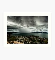 Cloudburst on Cleveland Bay Art Print