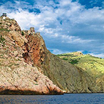 landscape Balaklava bay by donemonic