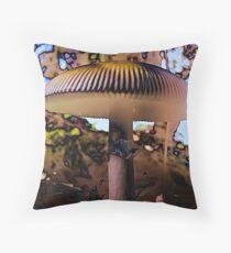 The Magic Of Mushrooms Throw Pillow