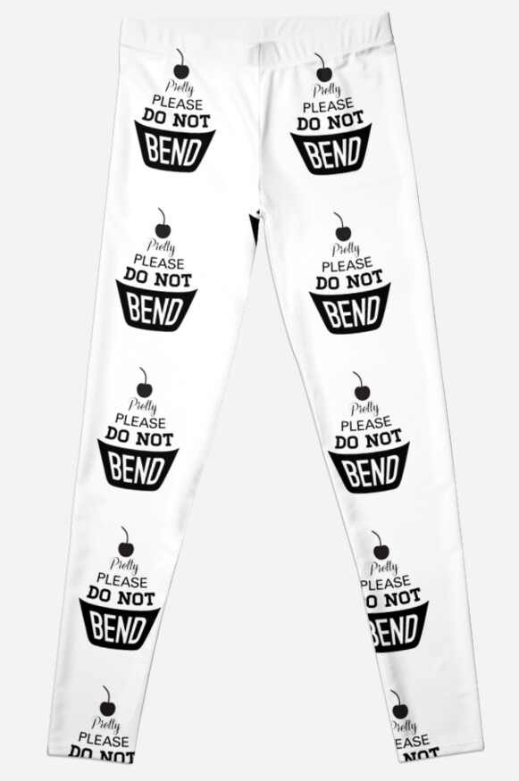 Pretty Please Cherry On Top Do Not Bend Leggings By Joanna Albright