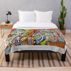 MAYA (outsider fine art illustration) Throw Blanket