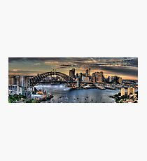 Sydney Moods (20 Exposure HDR Panorama) - The HDR Experience Photographic Print