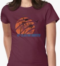 Scarred Sunset Women's Fitted T-Shirt