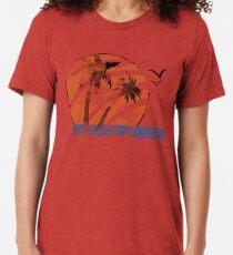 Camiseta de tejido mixto Puesta de sol cicatrizada