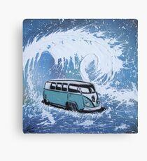 Splitty Wave 01 Painting Canvas Print