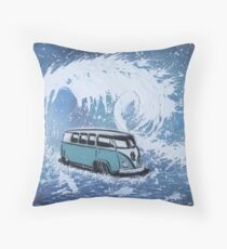 Splitty Wave 01 Painting Throw Pillow