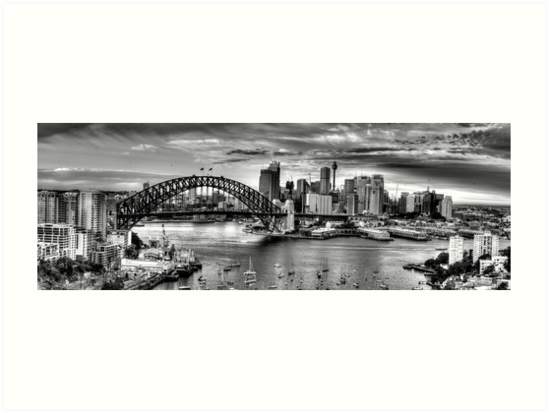 Its all black white sydney harbour sydney australia 20 exposure hdr pano