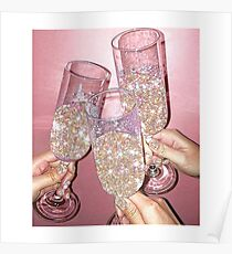 Sparkly Champagne Poster