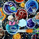 Milky Way Space Camp Solar System Planets Sun Moon Aliens Spacecraft Stars by jrcarmax