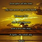 The Sun and the Earth by Alicia  Liliana