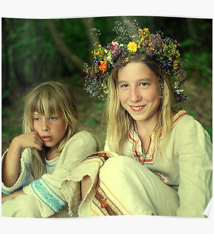 smile two Ukrainian girls Poster