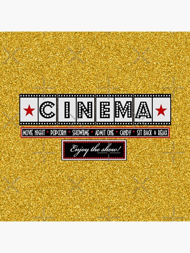 Película Cine Cine Film Throw pillow-Gold de littlebeane