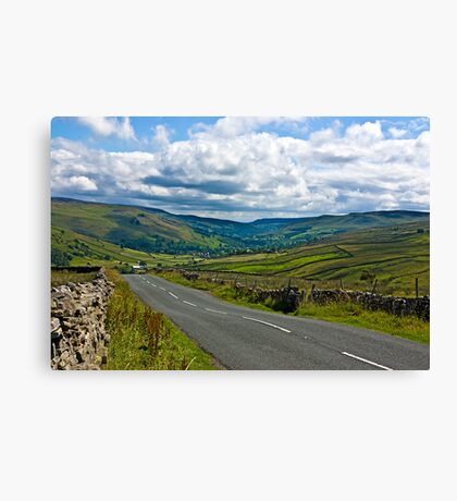 The Road to Muker  (Yorks Dales) Canvas Print