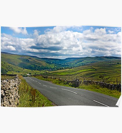 The Road to Muker  (Yorks Dales) Poster