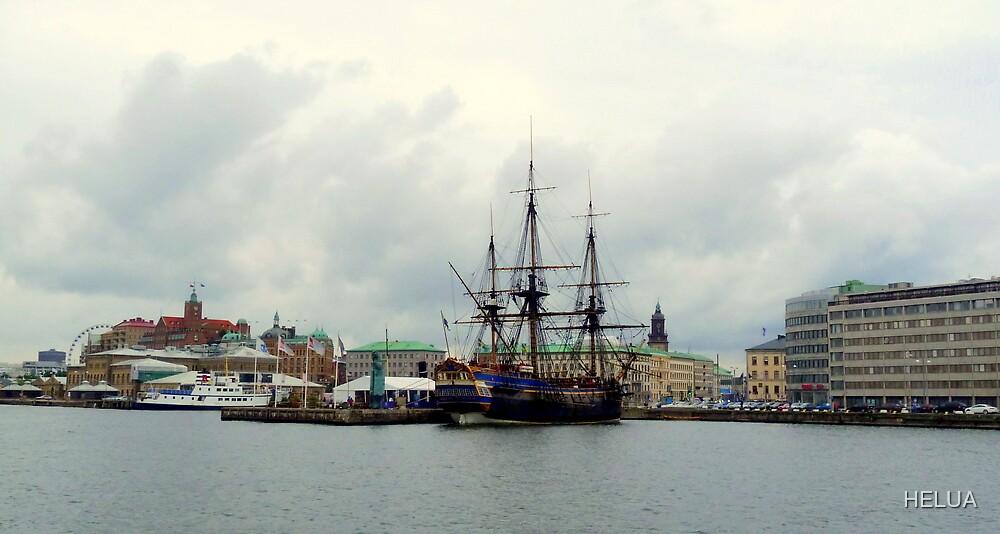 "The East Indiaman ""Götheborg"" in Gothenburg Harbour by HELUA"