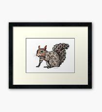 Squirrel Totem Framed Print