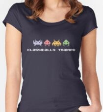 Classically Trained - 80s Video Games Women's Fitted Scoop T-Shirt