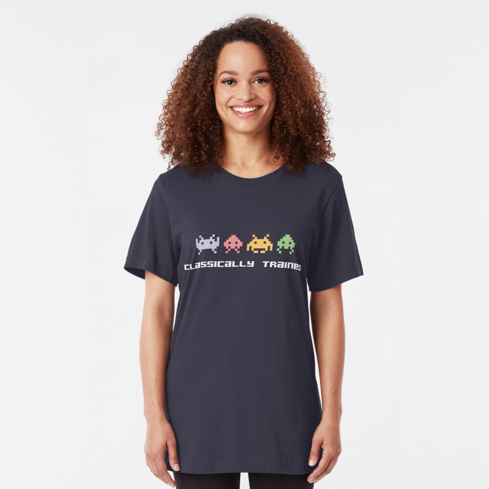 Classically Trained - 80s Video Games Slim Fit T-Shirt