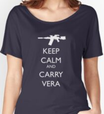 Keep Calm and Carry Vera Women's Relaxed Fit T-Shirt