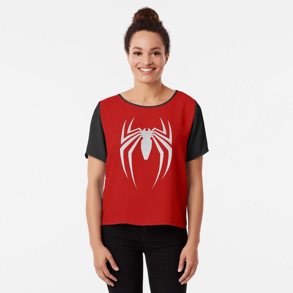 White Spider Chiffon Top