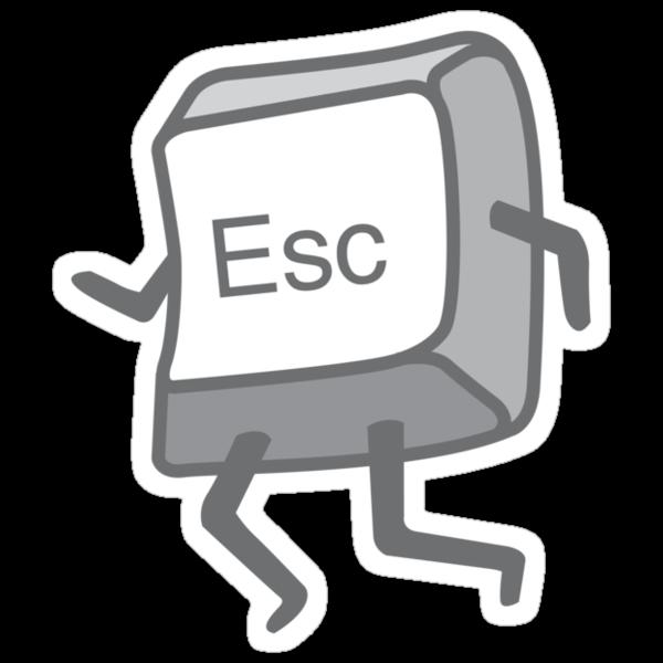 Esc Button - Escaping by DetourShirts