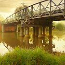 Sale Swing Bridge, Victoria, Australia by Michael Boniwell