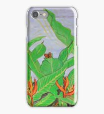 Thai leaves blowing in the Breeze. iPhone Case/Skin