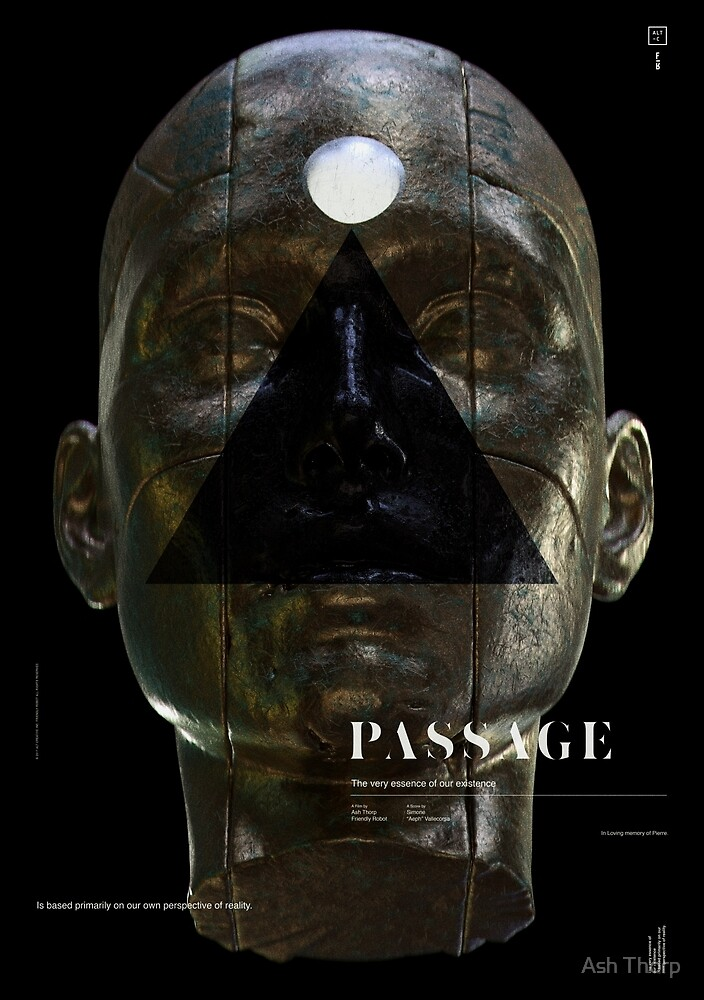 PASSAGE - The Queen (gold) by Ash Thorp