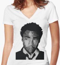 Childish Gambino Vector Women's Fitted V-Neck T-Shirt