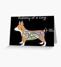 Anatomy Of A Corgi  Grußkarte