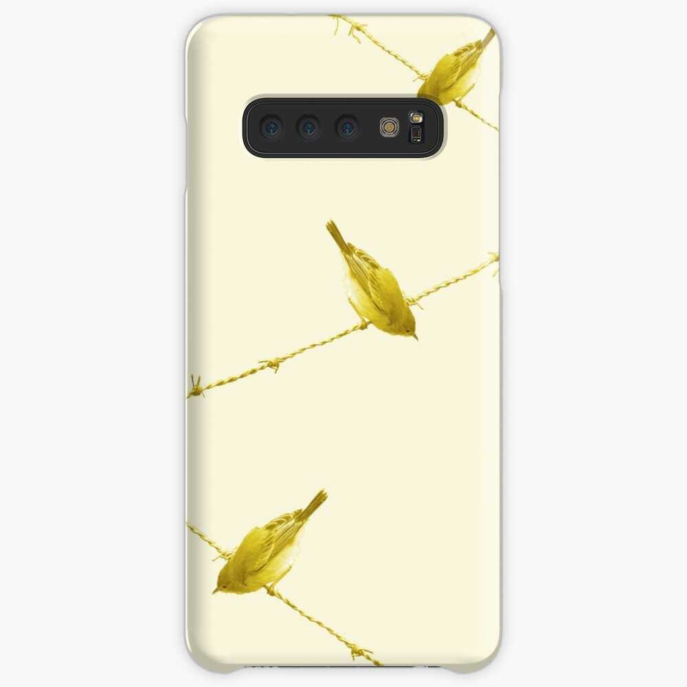 Monochrome - Yellow warblers on the wire Case & Skin for Samsung Galaxy