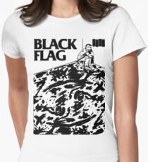 Black Flag - Six Pack Women's Fitted T-Shirt